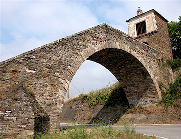 Portomarín Camino de Santiago en bici